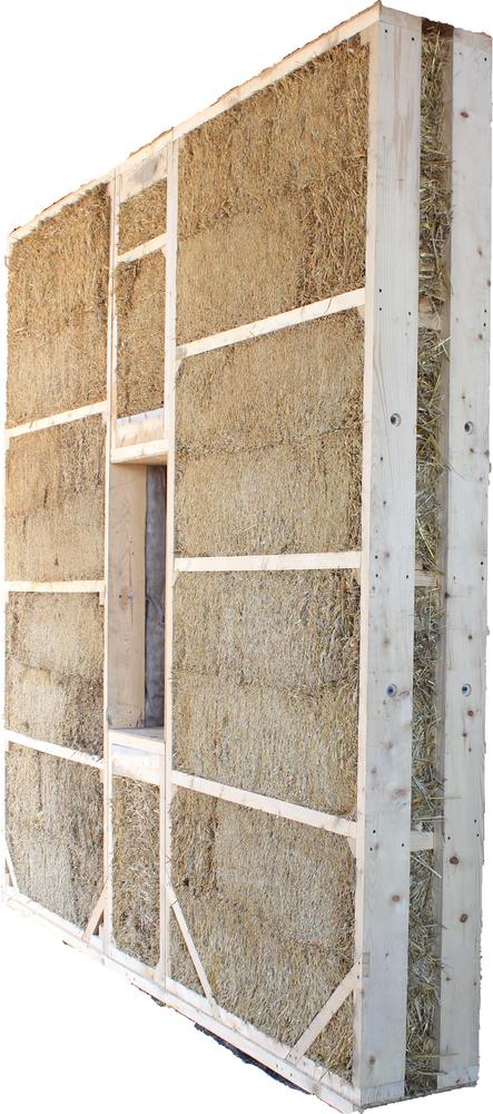 соломенная панель с окном small