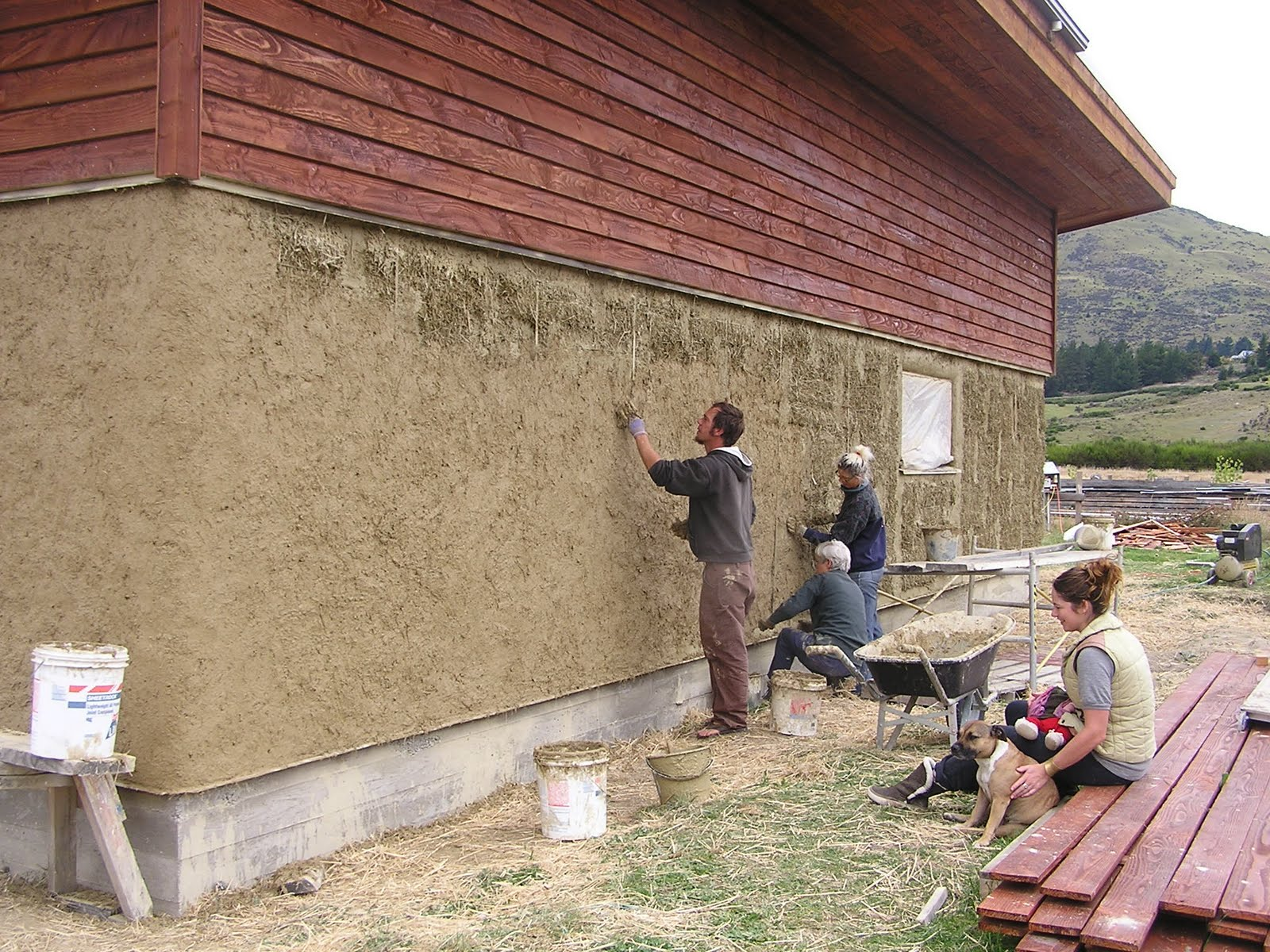S wall plastering