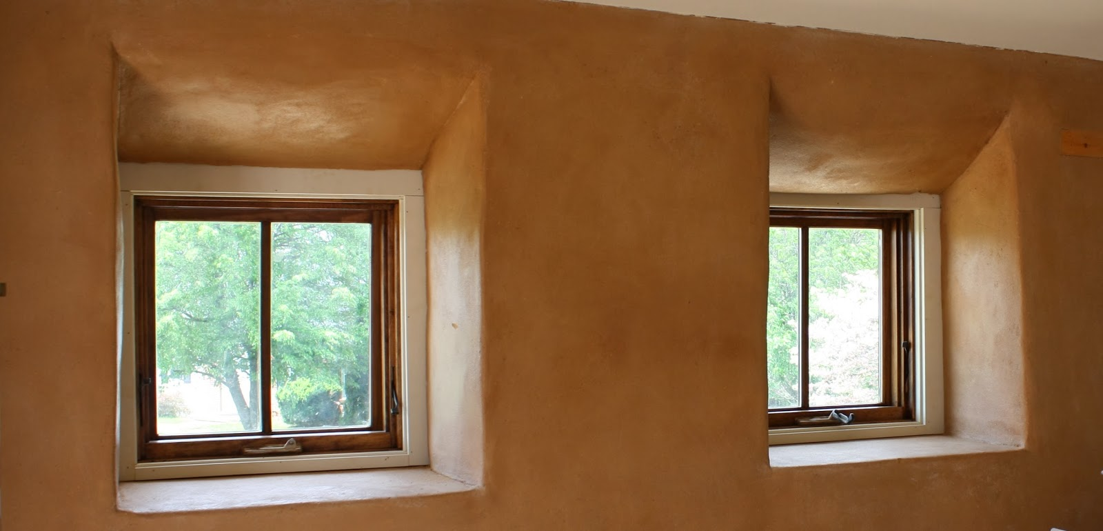 close-up of clay plaster-ACDR