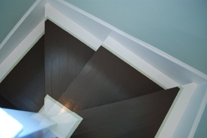 paint on stair