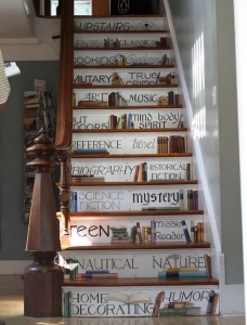 painted staircase words
