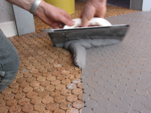 step-4-Showercork-Applying-Grout