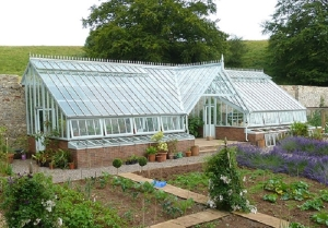 white cottage greenhouses