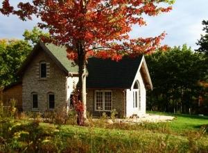 Alan Adolphson cordwood home Maine
