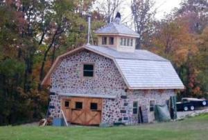 Stackwall cornered barn Canada