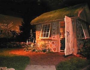 cordwood Irish cottage shed