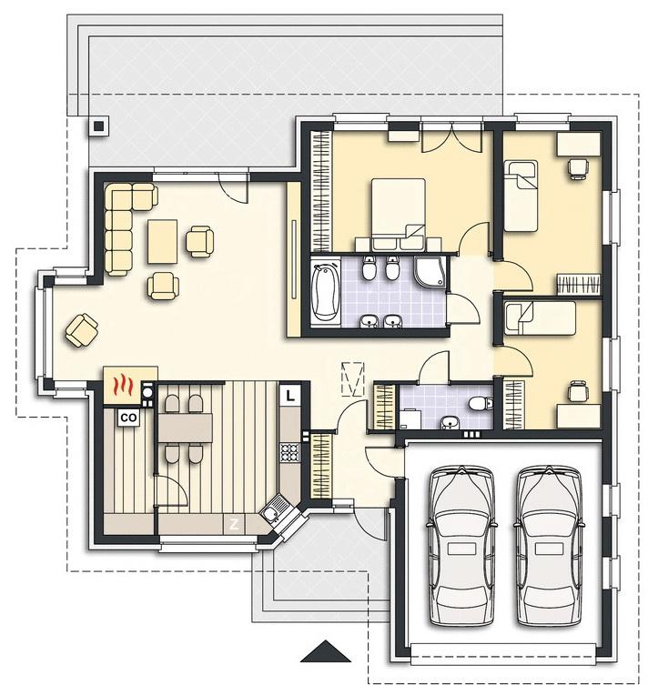 plan doma Atlant