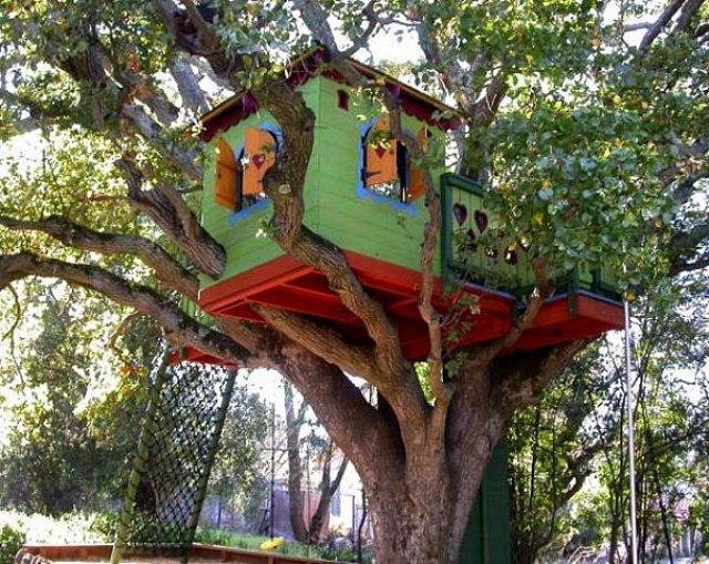 Дома на деревьях своими руками фото