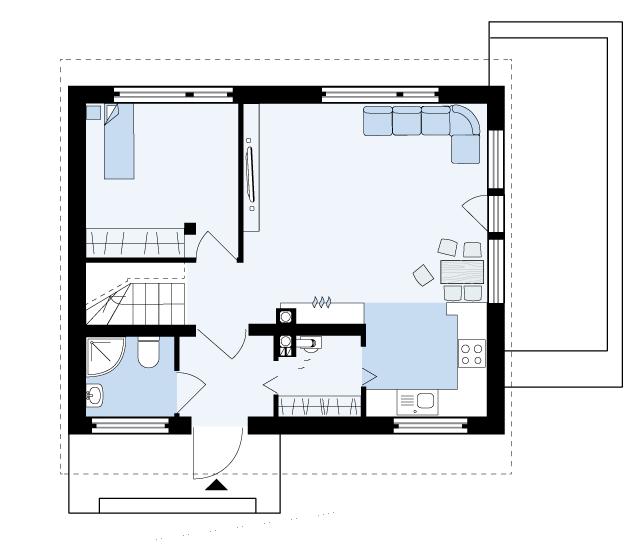 план дома Глория 1