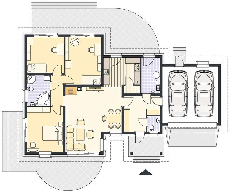 план дома адамант