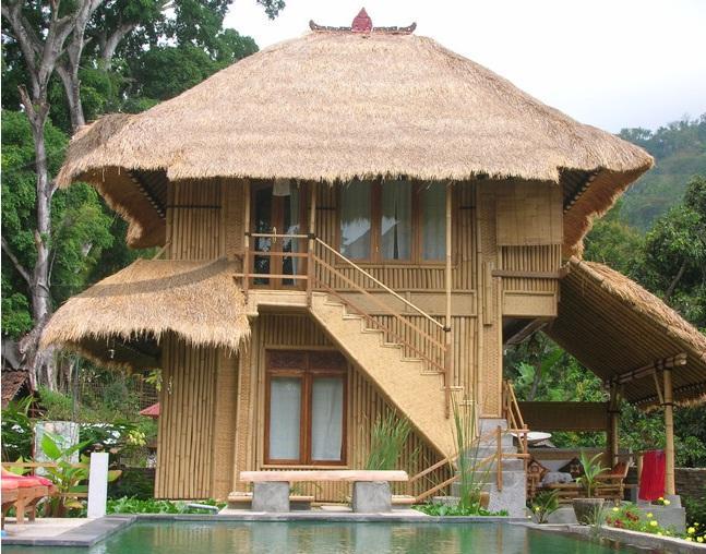 Contoh Desain Rumah Bambu Minimalis