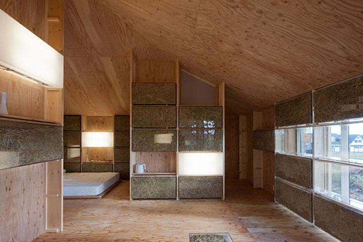 японський солом'яний будинок